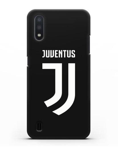 Чехол с логотипом и надписью Juventus силикон черный для Samsung Galaxy A01 [SM-A015F]