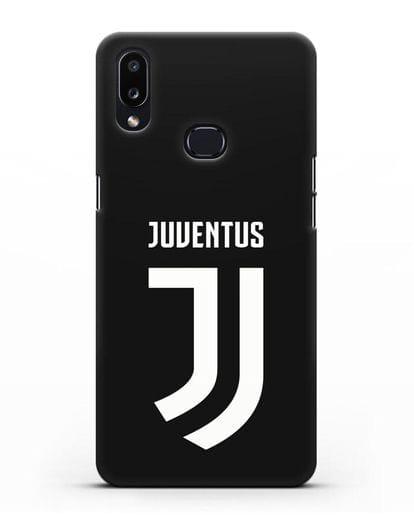 Чехол с логотипом и надписью Juventus силикон черный для Samsung Galaxy A10s [SM-F107F]