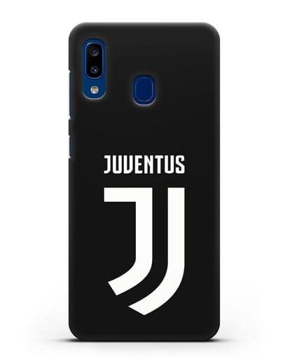 Чехол с логотипом и надписью Juventus силикон черный для Samsung Galaxy A20 [SM-A205FN]