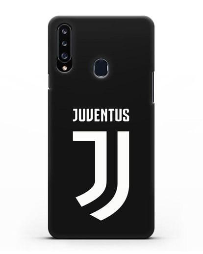Чехол с логотипом и надписью Juventus силикон черный для Samsung Galaxy A20s [SM-A207FN]