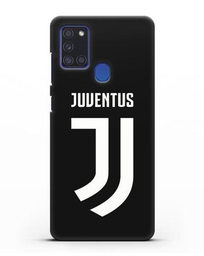 Чехол с логотипом и надписью Juventus силикон черный для Samsung Galaxy A21s [SM-A217F]