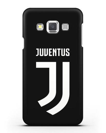 Чехол с логотипом и надписью Juventus силикон черный для Samsung Galaxy A3 2015 [SM-A300F]