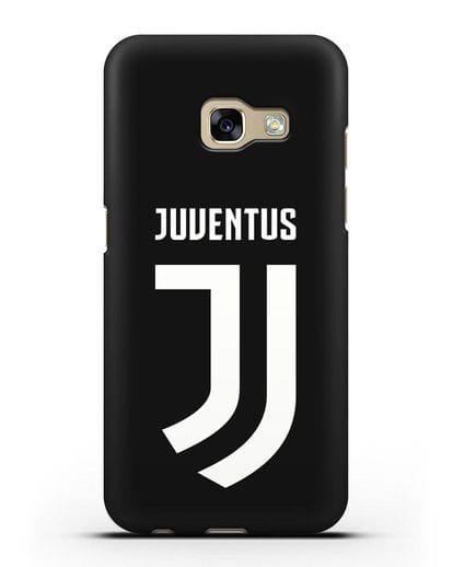 Чехол с логотипом и надписью Juventus силикон черный для Samsung Galaxy A3 2017 [SM-A320F]