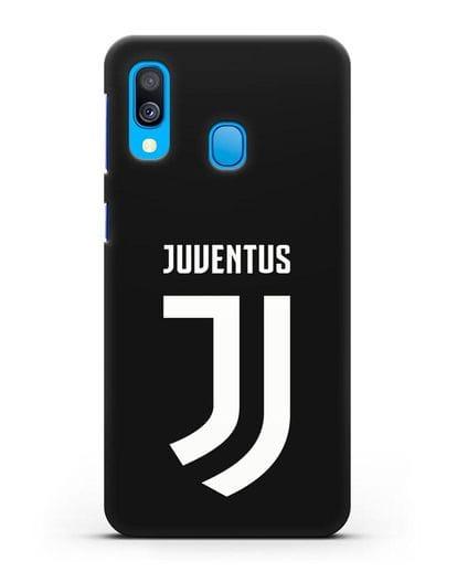 Чехол с логотипом и надписью Juventus силикон черный для Samsung Galaxy A40 [SM-A405F]