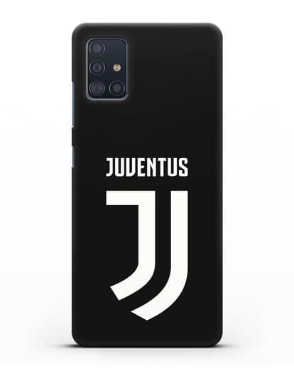 Чехол с логотипом и надписью Juventus силикон черный для Samsung Galaxy A51 [SM-A515F]