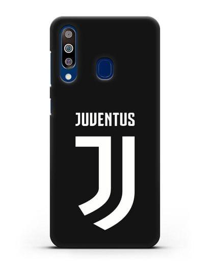 Чехол с логотипом и надписью Juventus силикон черный для Samsung Galaxy A60 [SM-A606F]