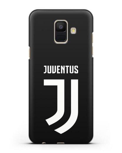 Чехол с логотипом и надписью Juventus силикон черный для Samsung Galaxy A6 2018 [SM-A600F]