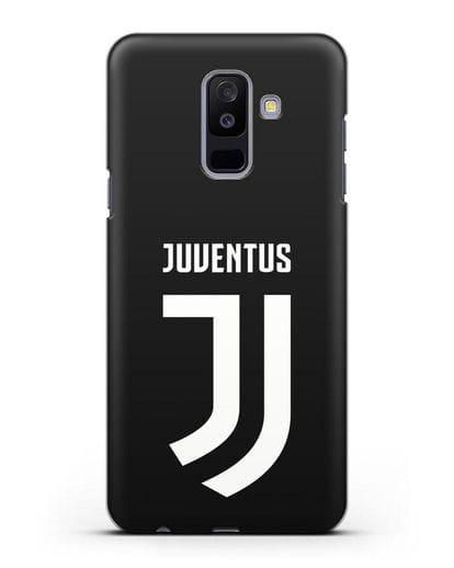Чехол с логотипом и надписью Juventus силикон черный для Samsung Galaxy A6 Plus 2018 [SM-A605F]