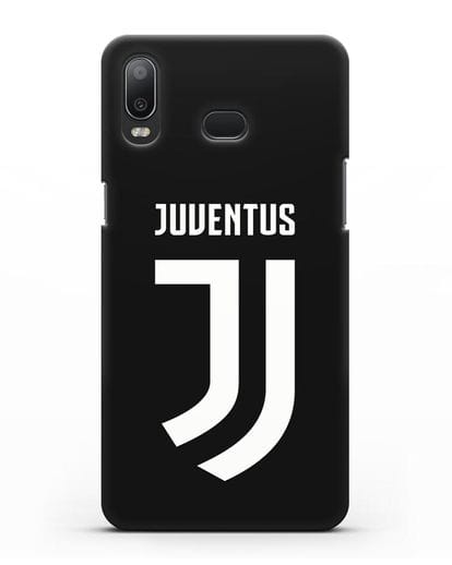 Чехол с логотипом и надписью Juventus силикон черный для Samsung Galaxy A6s [SM-G6200]