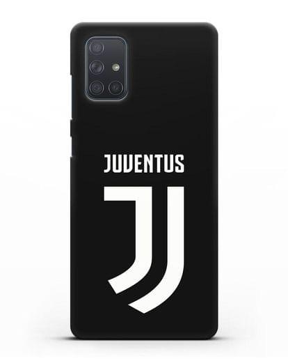 Чехол с логотипом и надписью Juventus силикон черный для Samsung Galaxy A71 [SM-A715F]