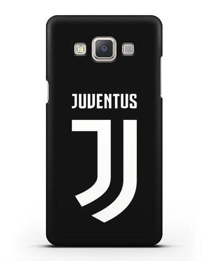 Чехол с логотипом и надписью Juventus силикон черный для Samsung Galaxy A7 2015 [SM-A700F]