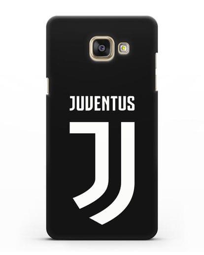 Чехол с логотипом и надписью Juventus силикон черный для Samsung Galaxy A7 2016 [SM-A710F]