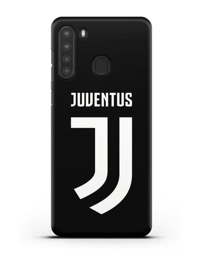 Чехол с логотипом и надписью Juventus силикон черный для Samsung Galaxy A21 [SM-A215]