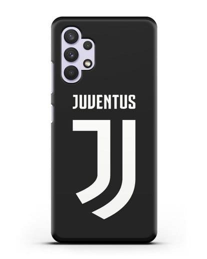 Чехол с логотипом и надписью Juventus силикон черный для Samsung Galaxy A32 [SM-A325F]
