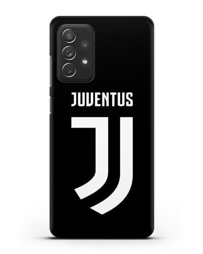 Чехол с логотипом и надписью Juventus силикон черный для Samsung Galaxy A72 [SM-A725F]