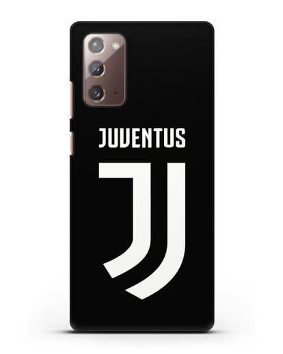Чехол с логотипом и надписью Juventus силикон черный для Samsung Galaxy Note 20 [SM-N980F]