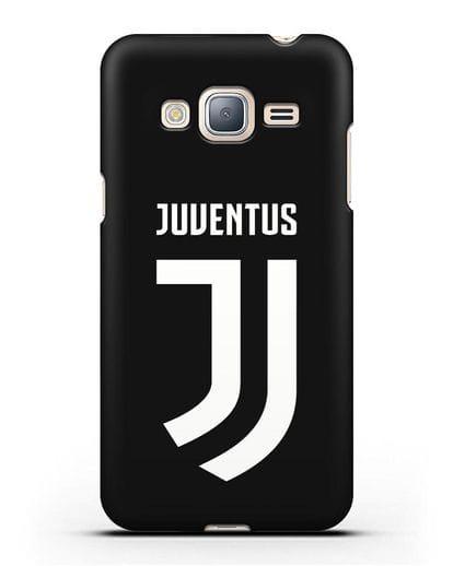 Чехол с логотипом и надписью Juventus силикон черный для Samsung Galaxy J3 2016 [SM-J320F]