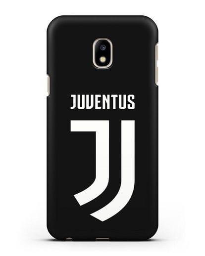 Чехол с логотипом и надписью Juventus силикон черный для Samsung Galaxy J3 2017 [SM-J330F]