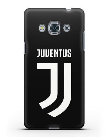 Чехол с логотипом и надписью Juventus силикон черный для Samsung Galaxy J3 Pro [SM-J3110]