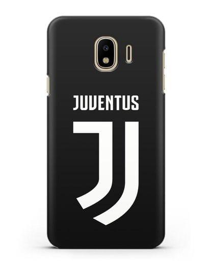 Чехол с логотипом и надписью Juventus силикон черный для Samsung Galaxy J4 2018 [SM-J400F]