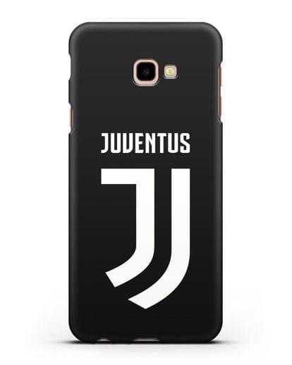 Чехол с логотипом и надписью Juventus силикон черный для Samsung Galaxy J4 Plus [SM-J415]