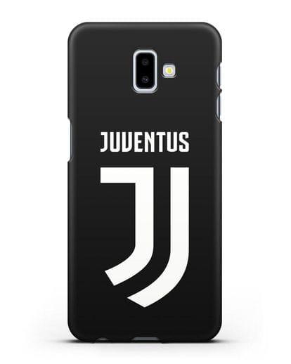Чехол с логотипом и надписью Juventus силикон черный для Samsung Galaxy J6 Plus [SM-J610F]