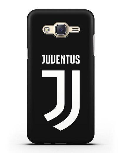 Чехол с логотипом и надписью Juventus силикон черный для Samsung Galaxy J7 2015 [SM-J700H]