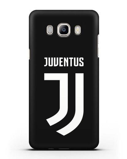Чехол с логотипом и надписью Juventus силикон черный для Samsung Galaxy J7 2016 [SM-J710F]