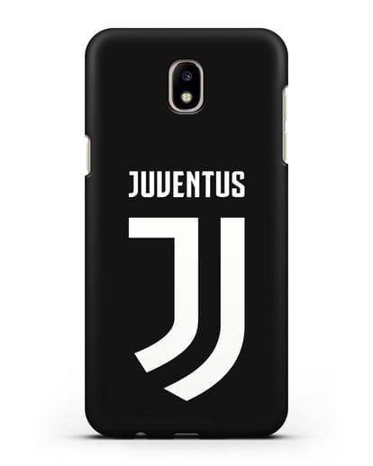 Чехол с логотипом и надписью Juventus силикон черный для Samsung Galaxy J7 2017 [SM-J720F]
