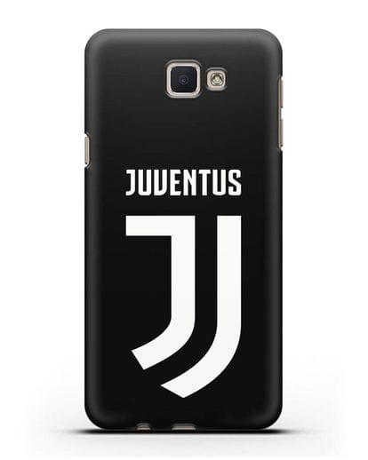 Чехол с логотипом и надписью Juventus силикон черный для Samsung Galaxy J7 Prime [SM-G610F]