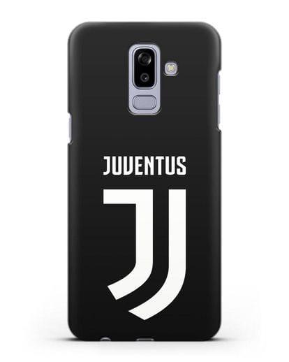 Чехол с логотипом и надписью Juventus силикон черный для Samsung Galaxy J8 2018 [SM-J810F]
