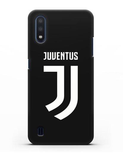 Чехол с логотипом и надписью Juventus силикон черный для Samsung Galaxy M01 [SM-M015F]