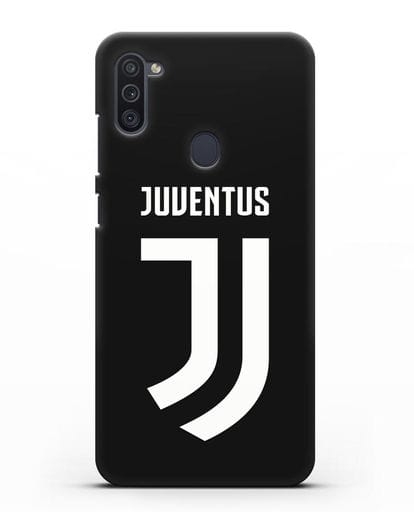 Чехол с логотипом и надписью Juventus силикон черный для Samsung Galaxy M11 [SM-M115F]