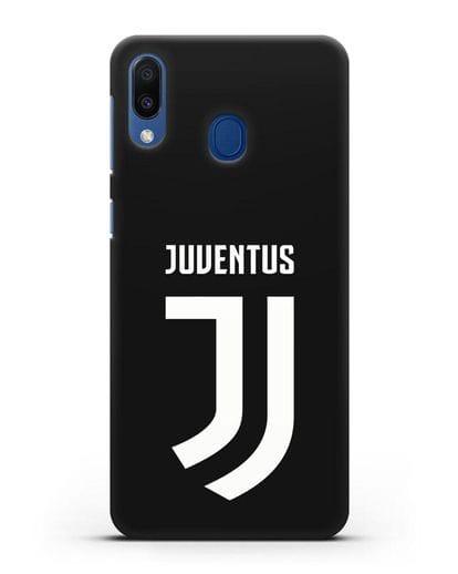 Чехол с логотипом и надписью Juventus силикон черный для Samsung Galaxy M20 [SM-M205F]