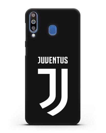 Чехол с логотипом и надписью Juventus силикон черный для Samsung Galaxy M30 [SM-M305F]
