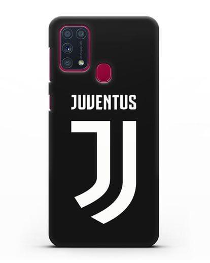 Чехол с логотипом и надписью Juventus силикон черный для Samsung Galaxy M31 [SM-M315F]