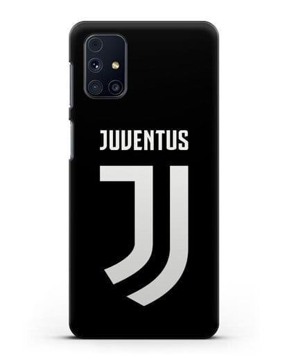 Чехол с логотипом и надписью Juventus силикон черный для Samsung Galaxy M31s [SM-M317F]