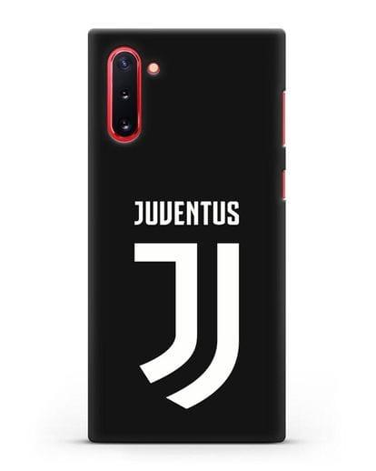 Чехол с логотипом и надписью Juventus силикон черный для Samsung Galaxy Note 10 [N970F]
