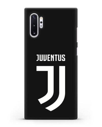 Чехол с логотипом и надписью Juventus силикон черный для Samsung Galaxy Note 10 Plus [N975F]