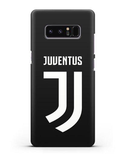 Чехол с логотипом и надписью Juventus силикон черный для Samsung Galaxy Note 8 [N950F]