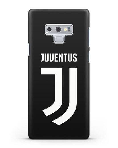 Чехол с логотипом и надписью Juventus силикон черный для Samsung Galaxy Note 9 [N960F]