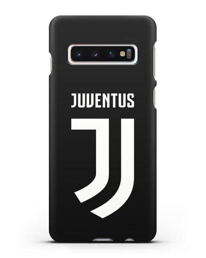 Чехол с логотипом и надписью Juventus силикон черный для Samsung Galaxy S10 Plus [SM-G975F]