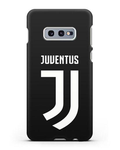 Чехол с логотипом и надписью Juventus силикон черный для Samsung Galaxy S10e [SM-G970F]