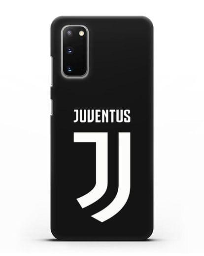 Чехол с логотипом и надписью Juventus силикон черный для Samsung Galaxy S20 [SM-G980F]