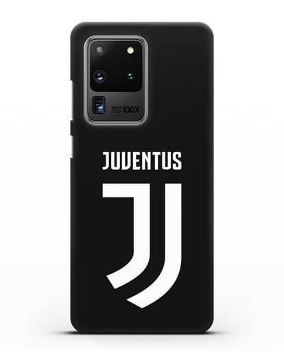 Чехол с логотипом и надписью Juventus силикон черный для Samsung Galaxy S20 Ultra [SM-G988B]