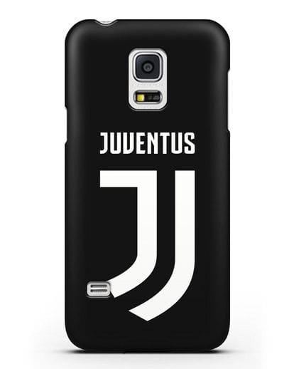 Чехол с логотипом и надписью Juventus силикон черный для Samsung Galaxy S5 Mini [SM-G800F]