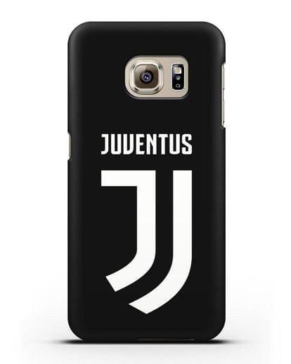 Чехол с логотипом и надписью Juventus силикон черный для Samsung Galaxy S6 Edge [SM-G925F]