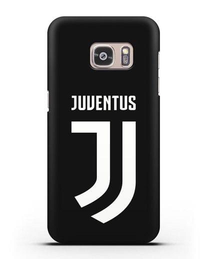Чехол с логотипом и надписью Juventus силикон черный для Samsung Galaxy S7 [SM-G930F]