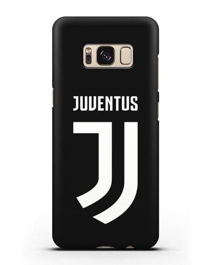 Чехол с логотипом и надписью Juventus силикон черный для Samsung Galaxy S8 Plus [SM-G955F]
