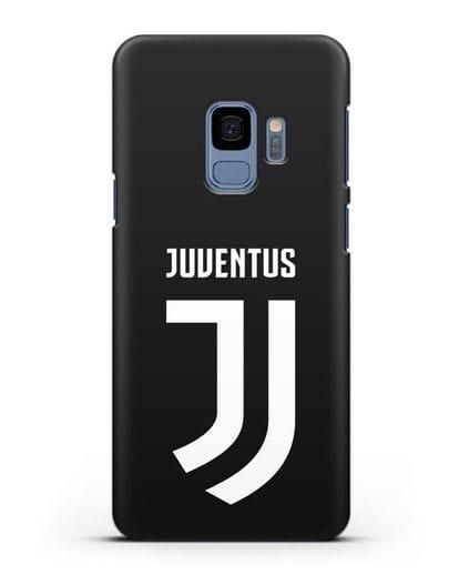 Чехол с логотипом и надписью Juventus силикон черный для Samsung Galaxy S9 [SM-G960F]